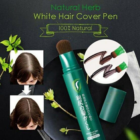 Natural Herb White Hair Cover Pen