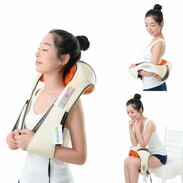 Portable Shiatsu Cervical Back and Neck Heat Massager