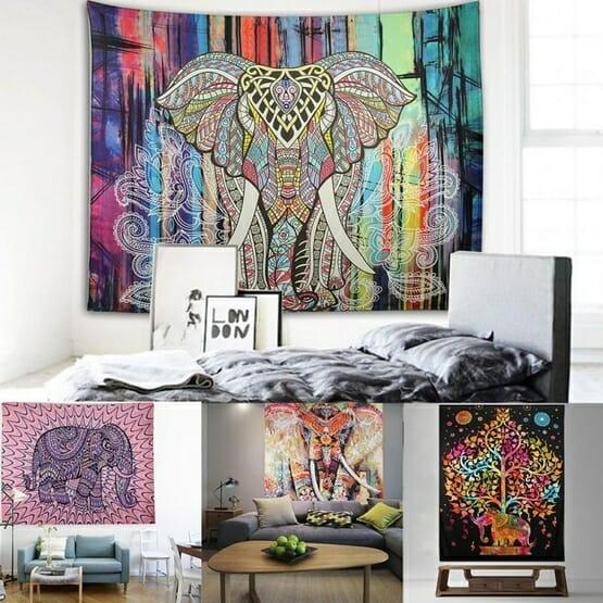 Elephant Mandala Tapestry