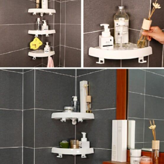 Snap Up Bathroom Shelf Organizer