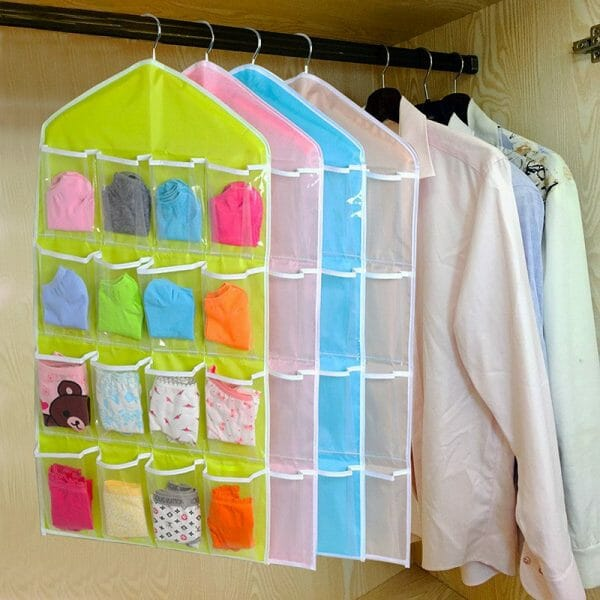 HANGING ORGANISER UNDERWEAR STORAGE BAG