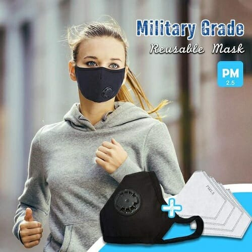Military Grade Reusable Filter Mask