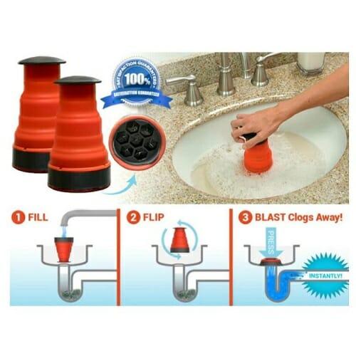 Sink Blaster Drain Unclogging Tool
