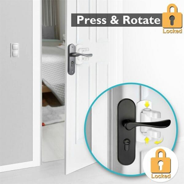 Baby Safety Door Lever Lock (4pcs)