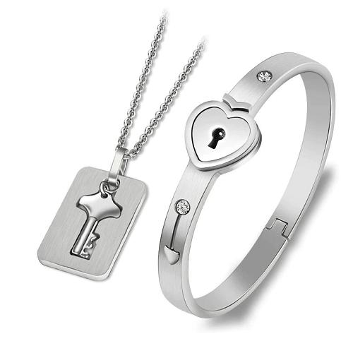 Love Lock Your Heart Bracelet Set
