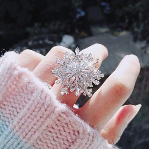 Rotatable Snowflake Ring