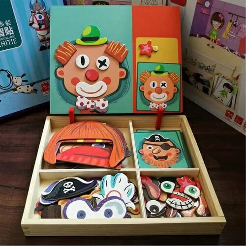 Dress Up & Learn – 3D Magnetic Puzzle Set