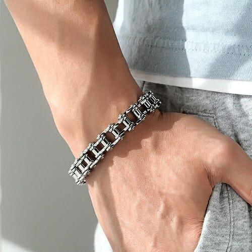 Cool Stainless Steel Men's Biker Chain Bracelet