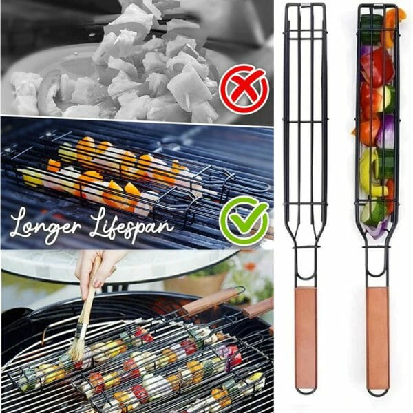 Easy Reusable Kebab Barbecue Basket