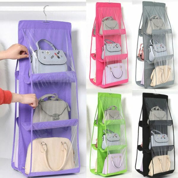 6 Pocket Foldable Hanging Bag