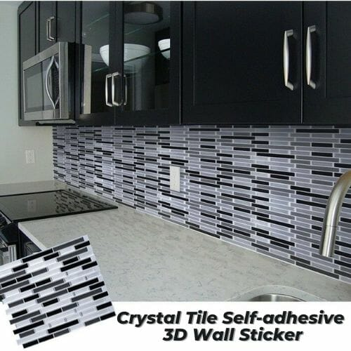 Crystal Tile Self-adhesive 3D Wall Sticker 5PCS+3Free