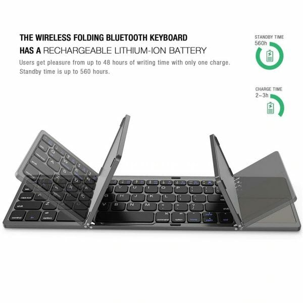 Wireless Bluetooth Foldable Keyboard