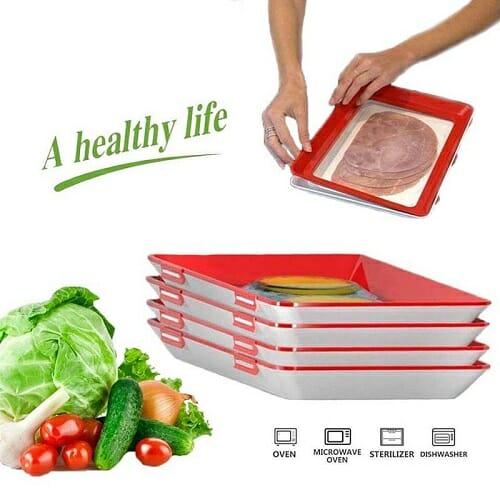 Eco Food Preservation Tray- 4Pcs