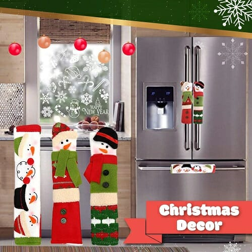 Christmas Door Handle Covers-3PCS