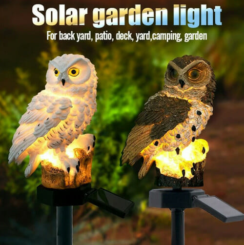 Solar Owl Lamp