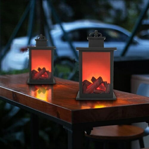 """Campfire"" Led Flame Lantern/Lamp"
