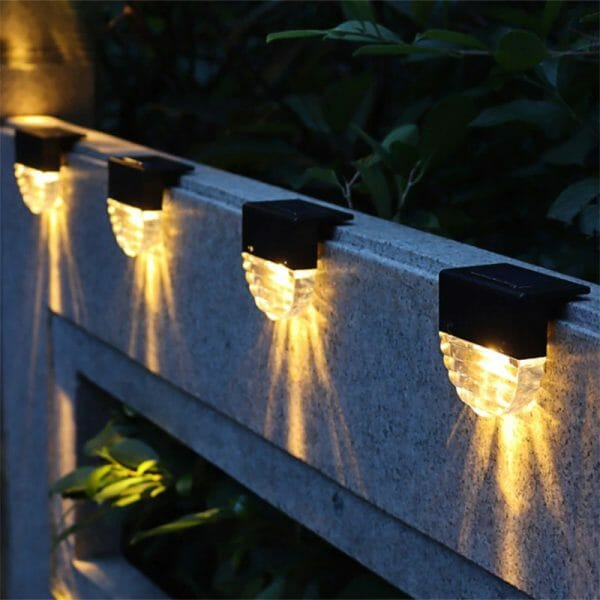 Solar Deck Lights – 4pcs