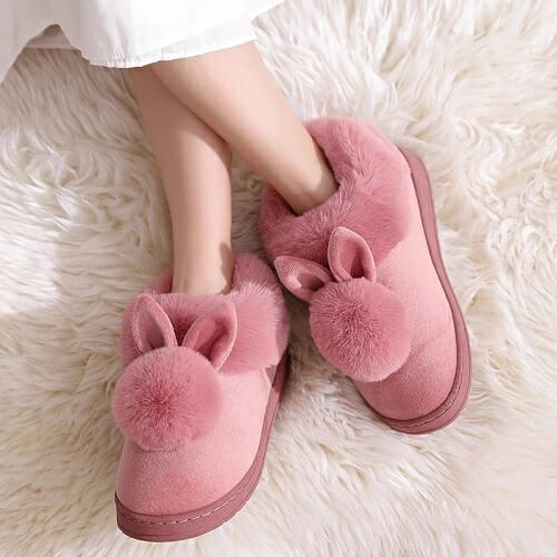 Plush Bunny Rabbit Warm Slippers