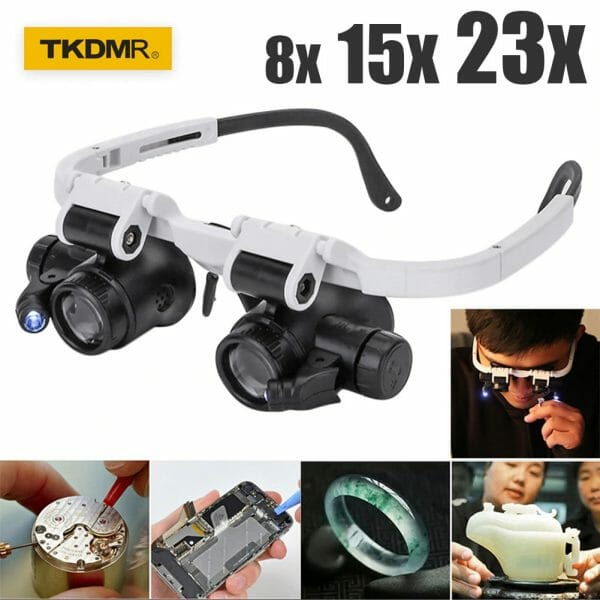LED Glasses Magnifier