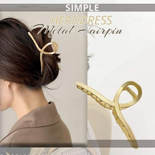 Simple Headdress Metal Hairpin-2PCS
