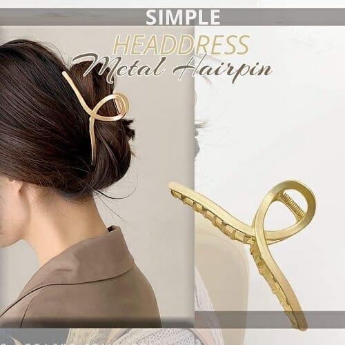 Simple Headdress Metal Hairpin-2PCS