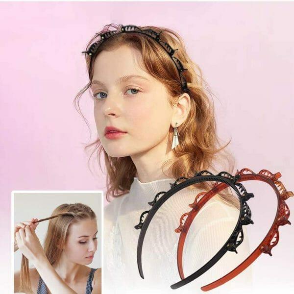 Non-Slip Headband With Clips-2PCS
