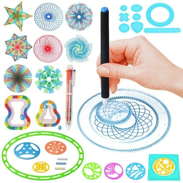 Spirograph Geometric Ruler Set – 22PCS