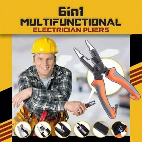 6 In 1 Multifunctional Electrician Pliers
