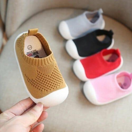 Mesh-Knit Baby Firstwalker Shoes