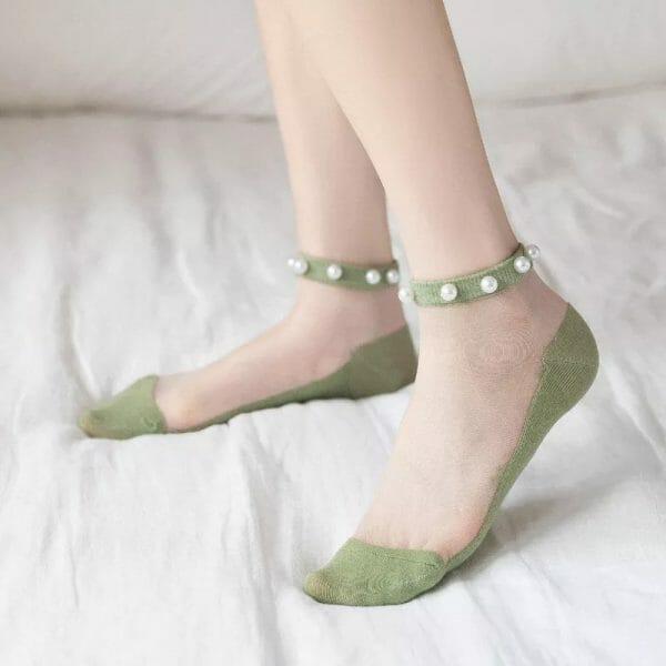 Pearl Transparent Socks -2 Packs