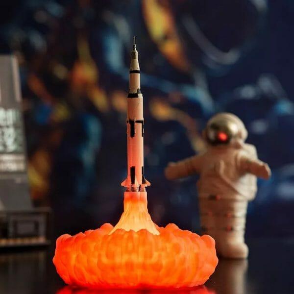 Apollo Space Rocket Lamp