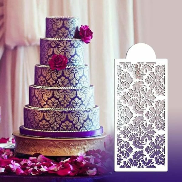 Cake Decoration Stencil – 6 PCS