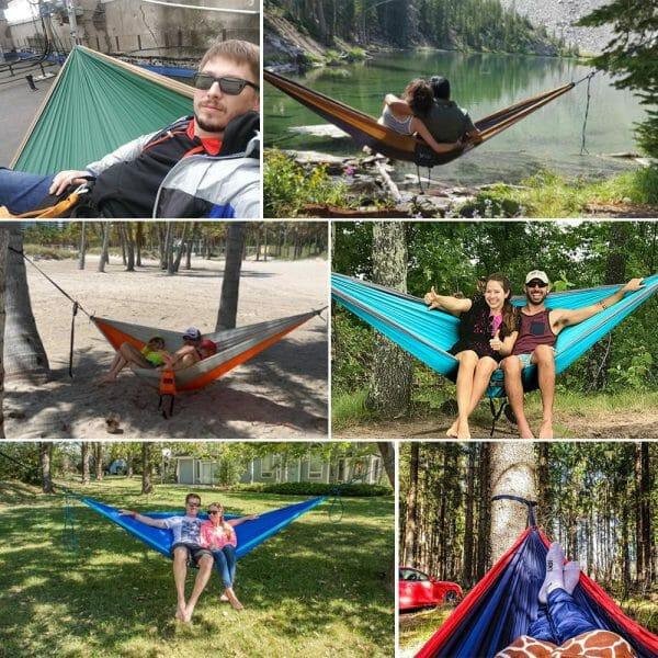 Portable Parachute Leisure Travel Hammock