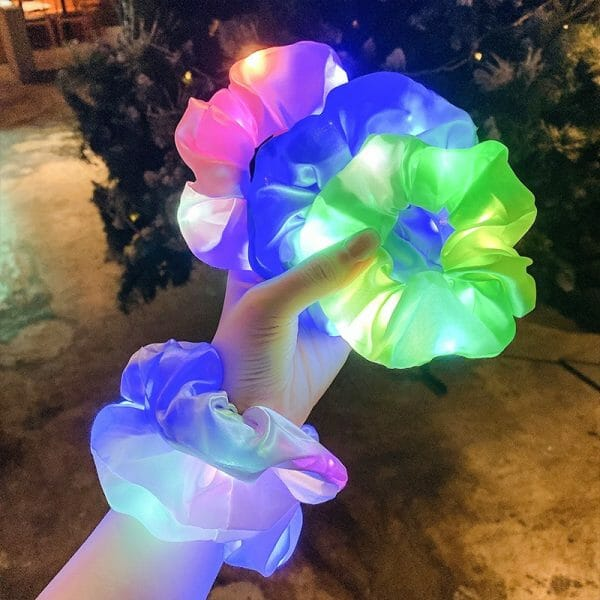 LED Glow Hair Scrunchie
