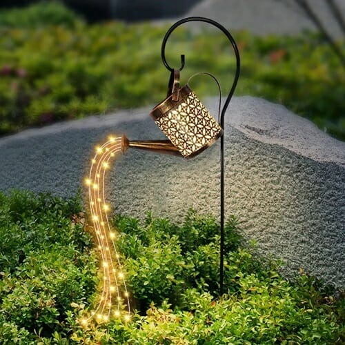 Glowing Watering Can Made with Fairy Lights