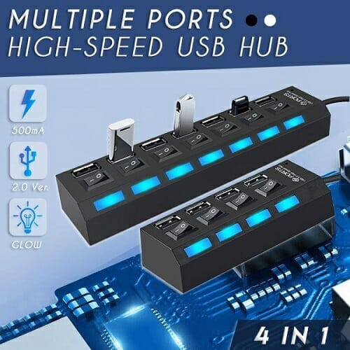 Multiple Ports High-Speed USB Hub – 7 ports