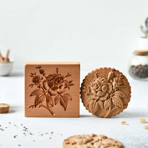 Cookie cutter – Provance rose cookie stamp
