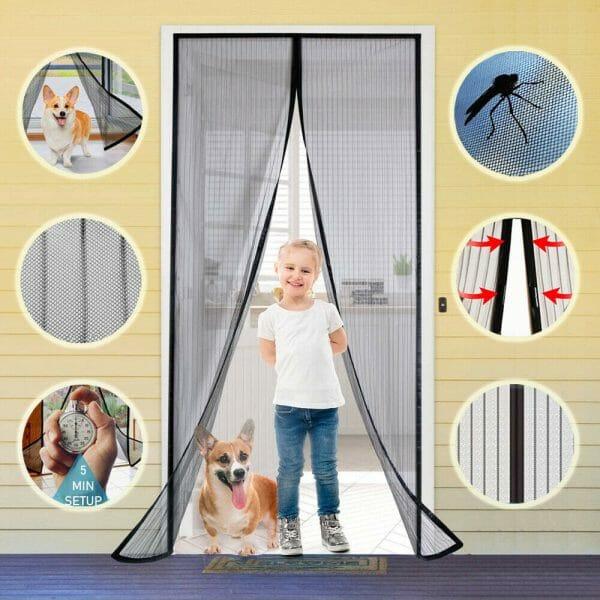 Magnetic Mosquito Screen Door