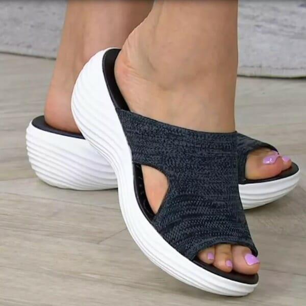 Stretch Orthotic Slide Sandals