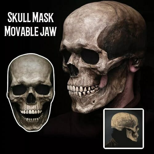 Movable Jaw Full Head Skull Mask