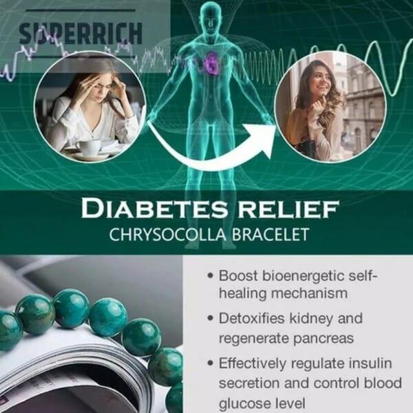 Diabetes Relief Chrysocolla Bracelet