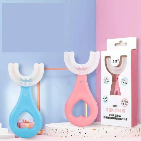 360° Kids U-Shaped Toothbrush -2PCS