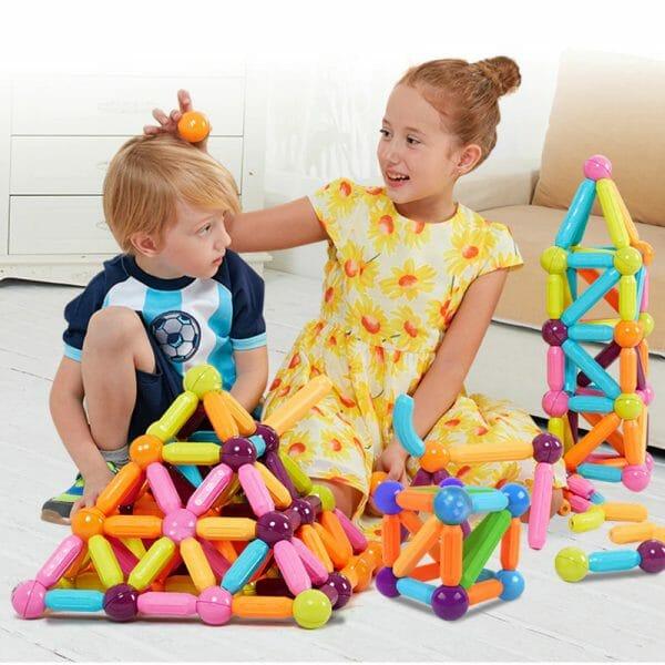 kids Magnetic Balls & Rods – Educational Magnet Building Blocks
