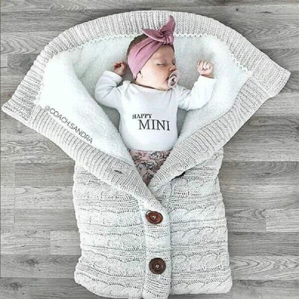 Baby Winter Pod Knit Blanket