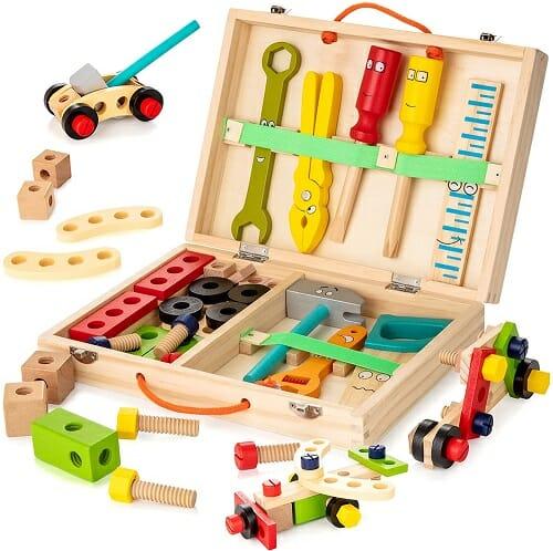Kids Wooden Tool Box