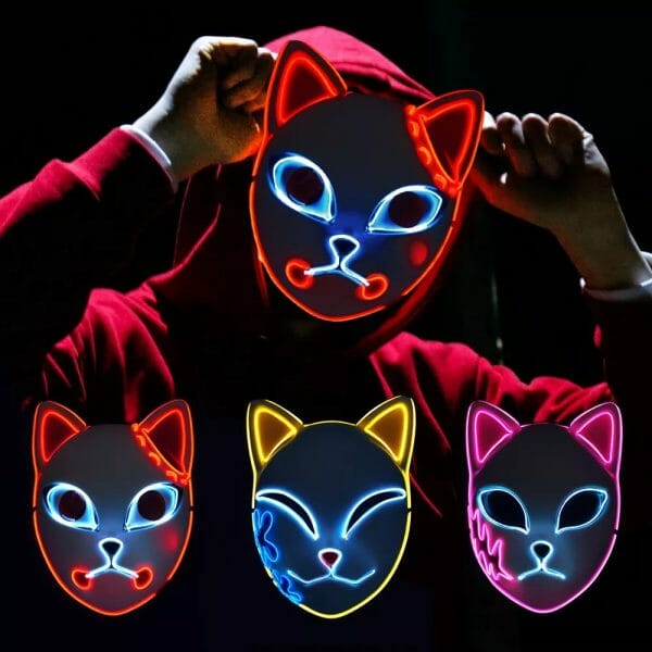 Demon Slayer Kimetsu No Yaiba LED Fox Mask